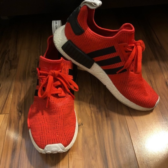 Adidas NMD R1 Core Red Black 9.5 Men's